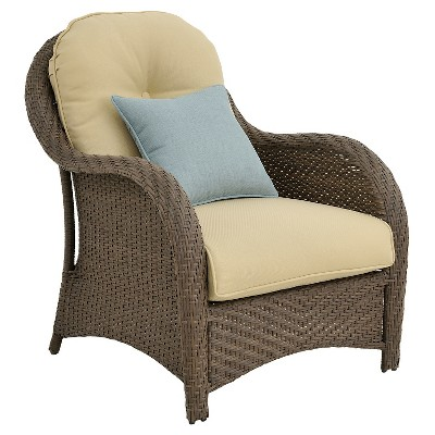 Hanover Outdoor Newport 6 Piece Woven Seating Set Cream With