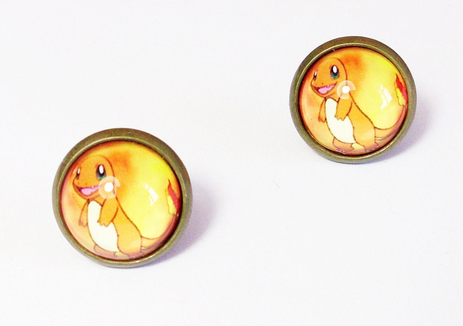 Japan Anime Pokemon Pikachu Stud Earrings Pokédex Manga Cosplay Cute Jewelry
