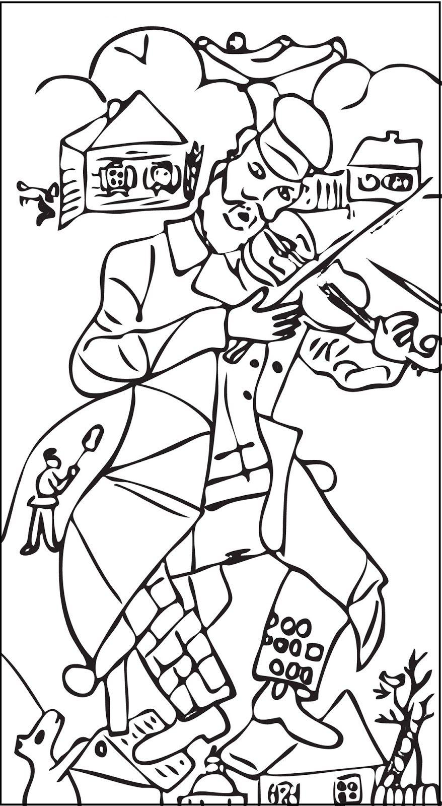 Chagall para pintar | Coloring Book | Pinterest | Marc chagall ...