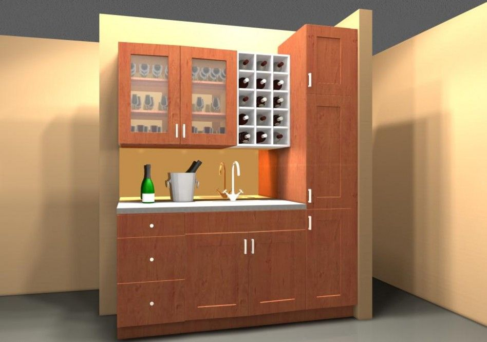 Furnitures, : Mini Home Bar Area With Modern Cabinetry Set ...