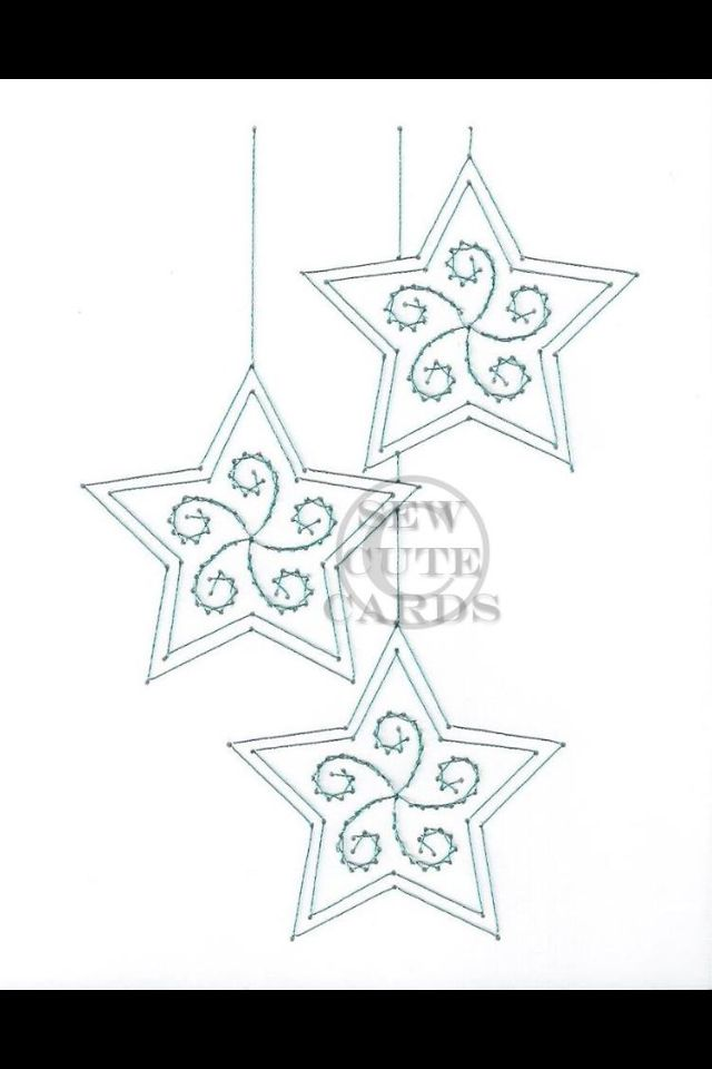 Star Ornaments by Sew Cute Cards www.facebook.com/sewcutecards http ...