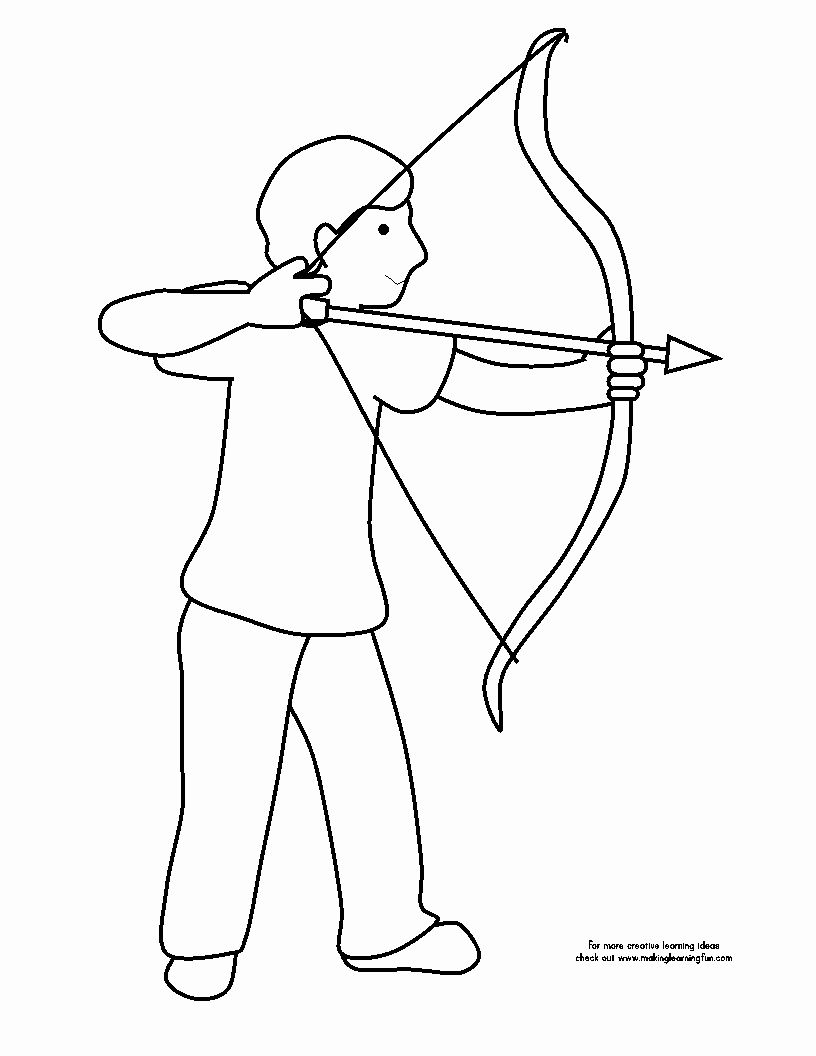 Bow And Arrow Coloring Page New Making Learning Fun Bat Coloring Pages Bear Coloring Pages Coloring Pages
