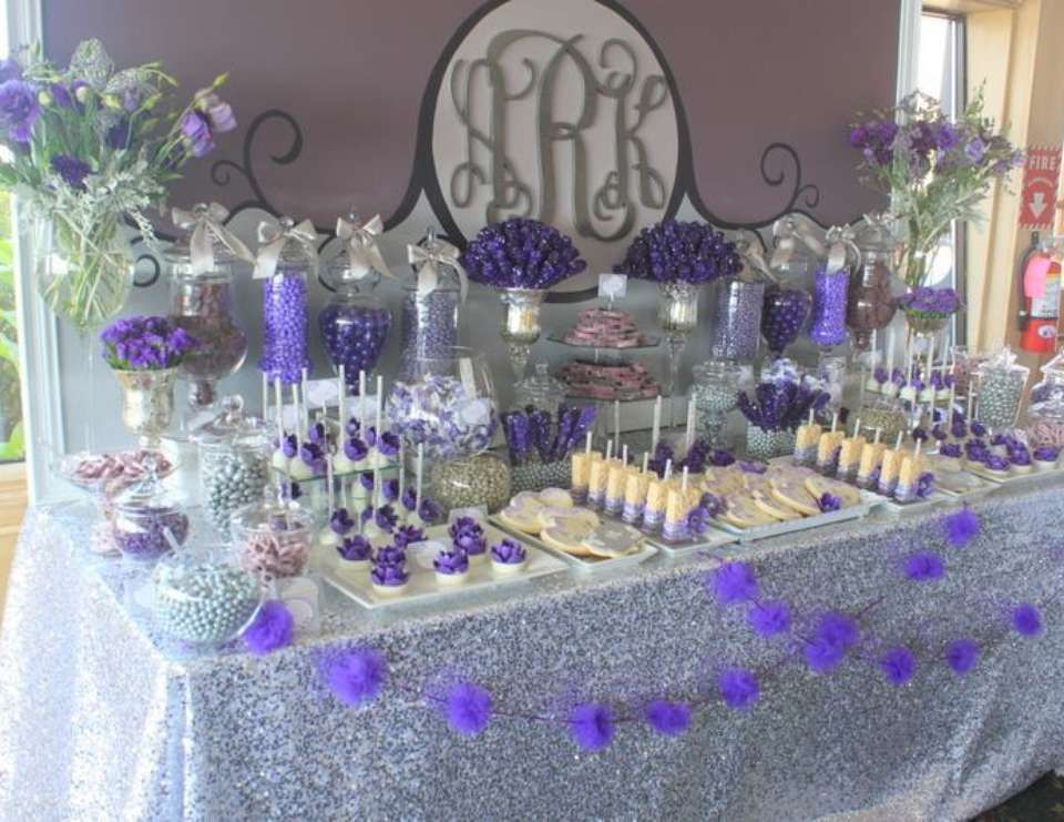 purple amp gray glam wedding quotpurple amp gray dessert table