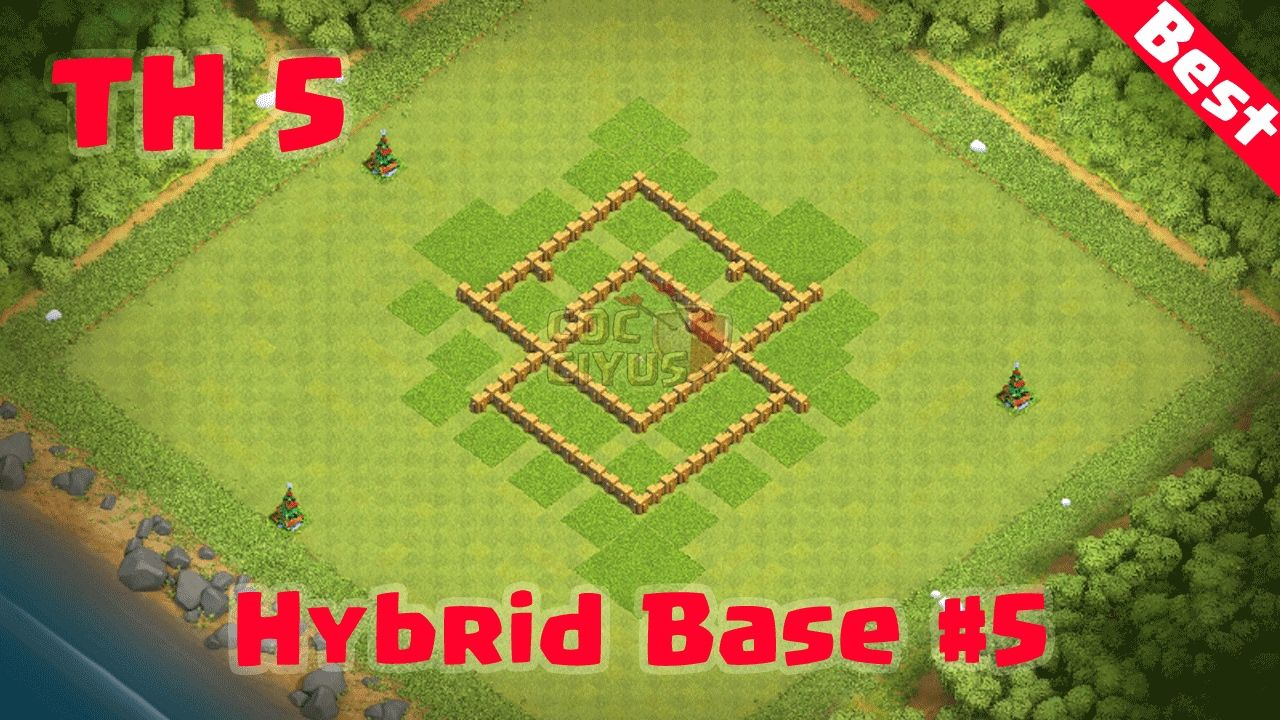 Clash Of Clans Town Hall 5 Best Defense Coc Th5 Hybrid Base