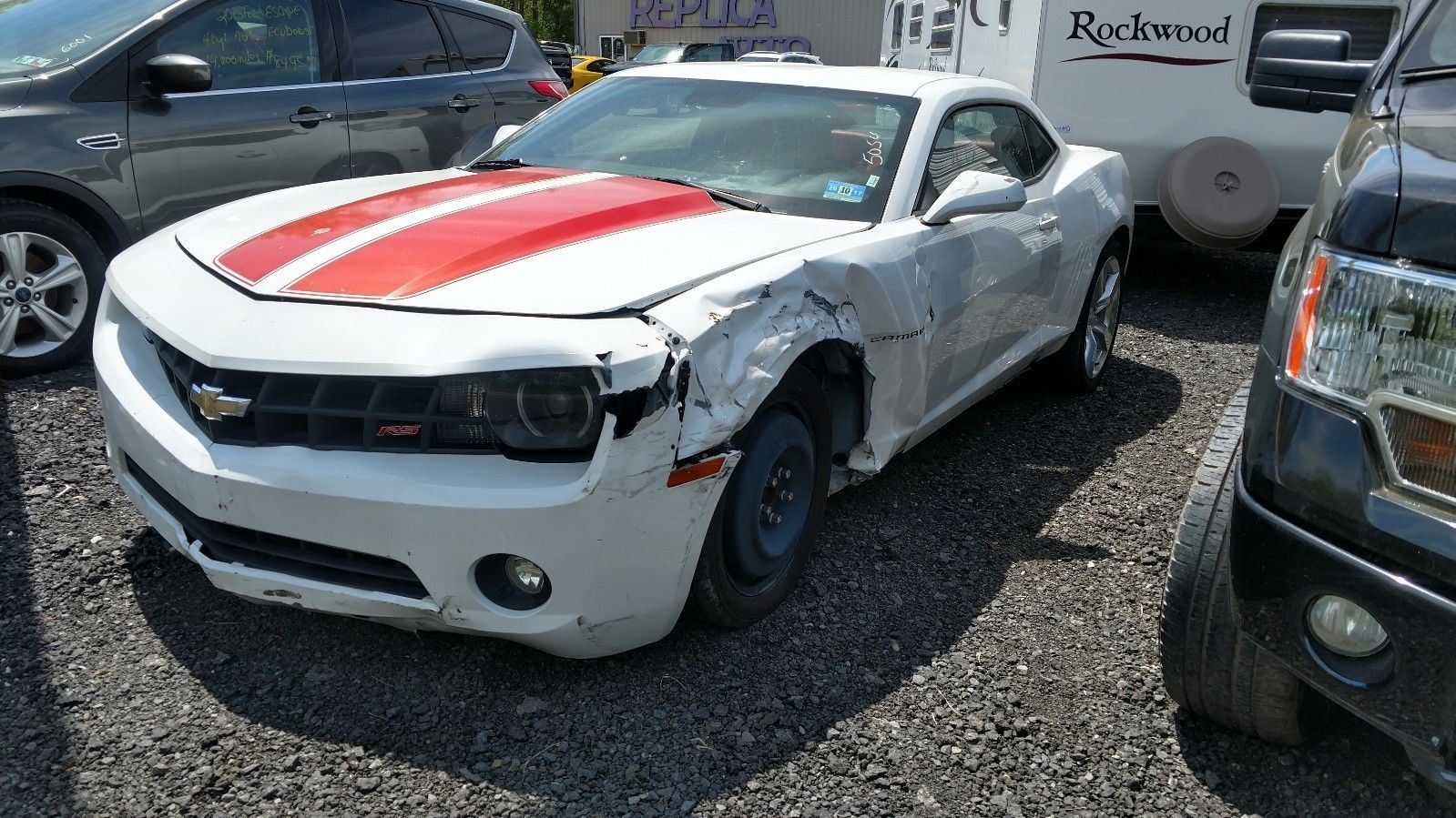 Left side damage 2010 Chevrolet Camaro LT Coupe repairable | Wrecked ...