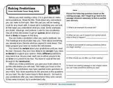 Worksheets Making Predictions Worksheets 3rd Grade making predictions comprehension and 3rd reading strategiesreading worksheetsmaking predictions3rd grade