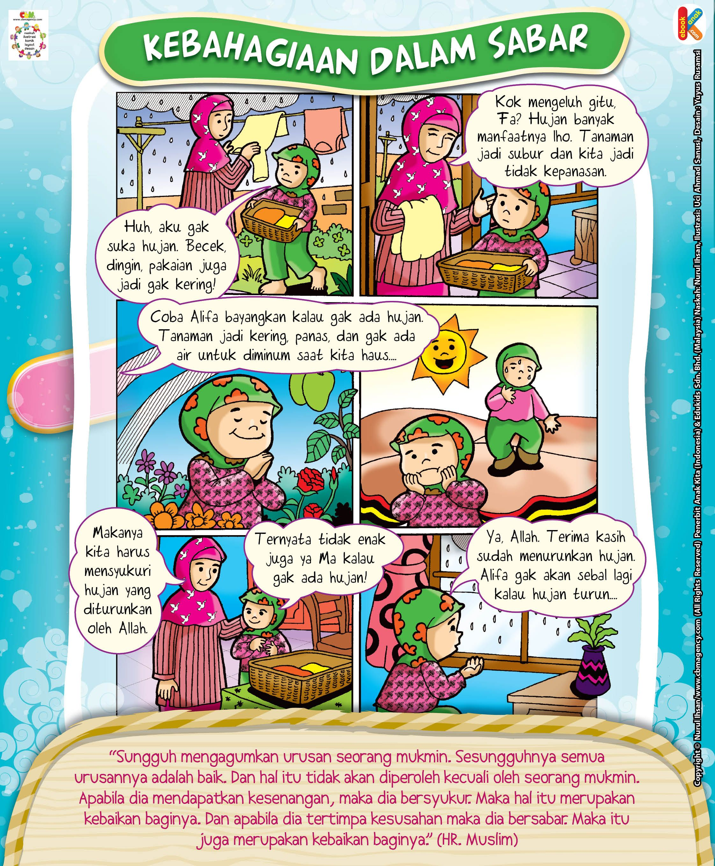 Komik Hadist Keutamaan Sabar Buku, Komik anak