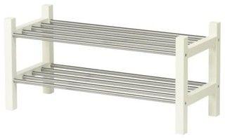 Tjusig Shoe Rack, White - contemporary - shoeracks - by IKEA