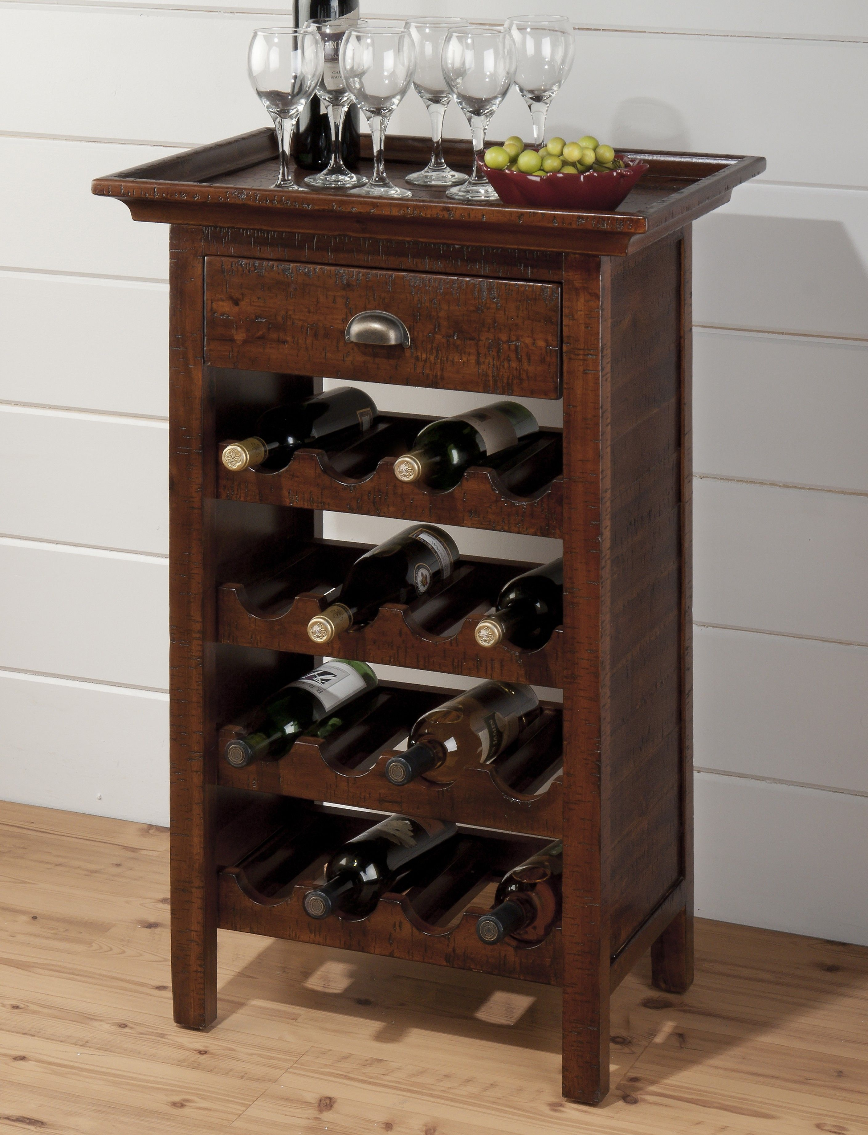 Urban Lodge Rich Warm Brown Wine Rack