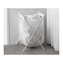 IKEA - JÄLL, Waszak met standaard, Kan ingeklapt worden. Daardoor is de wasmand makkelijk te tillen en op te bergen.