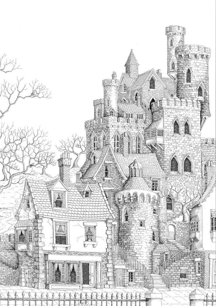 Free Coloring Page For Adults Castle Coloringpage Printable