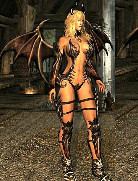 Succubus Armor | Skyrim Mod Armor | Mod girl, Skyrim, Skyrim