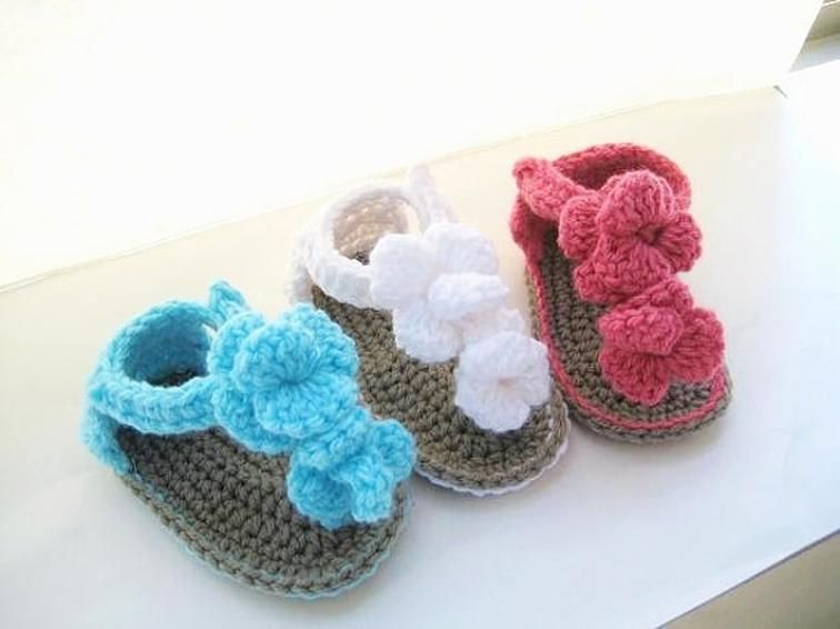 Crochet Baby Sandals Pattern, Crochet Booties | Craftsy | Crochet ...