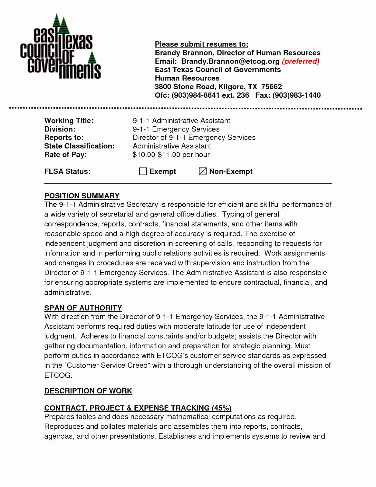 administrative assistant resume summary administrative