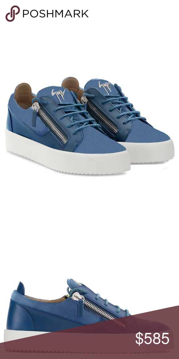Giuseppe Zanotti Sneakers Blue suede