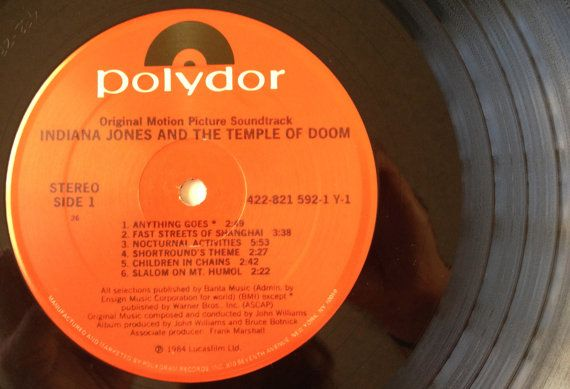 Indiana Jones and the Temple of Doom Soundtrack by ThisVinylLife