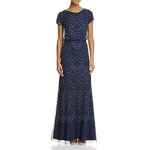 Adrianna Papell Beaded Blouson Gown Women - Bloomingdale's