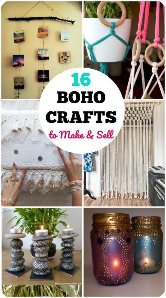 16 DIY Easy Boho Crafts for Your Boho Chic Room #craftstomakeandsell