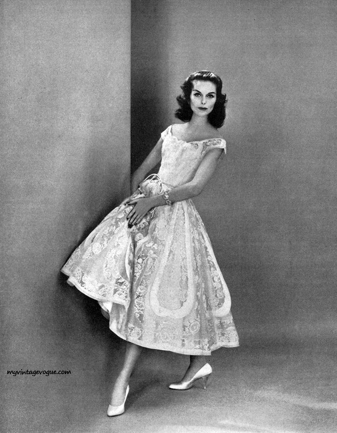 Captivating Anne St Marie   Dress By Ceil Chapman 1956