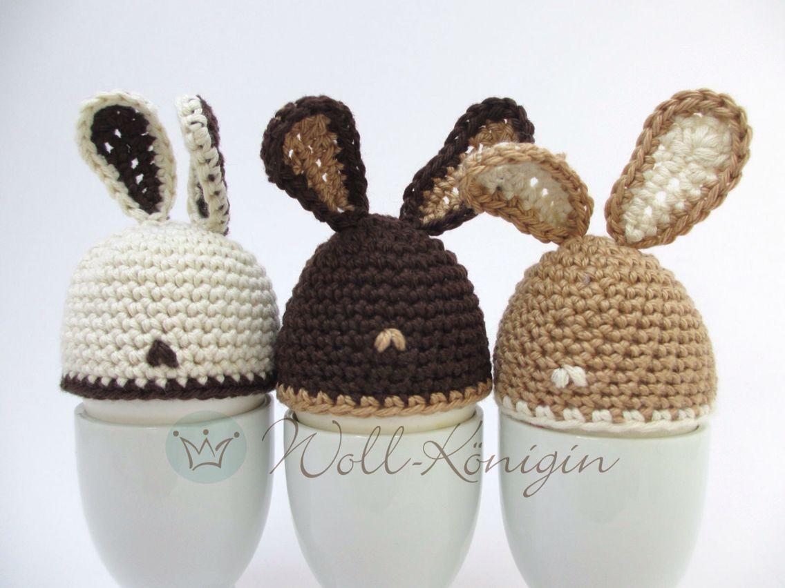 Eierwärmer Osterhasen Anleitung Woll Königin Pinterest Easter