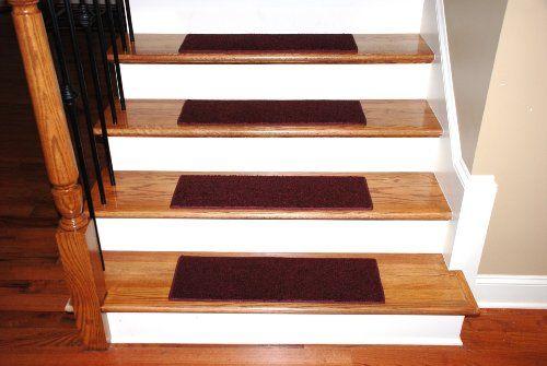 Best Carpet Stair Treads 23″ X 8″ – Burgundy – Set Of 13 400 x 300