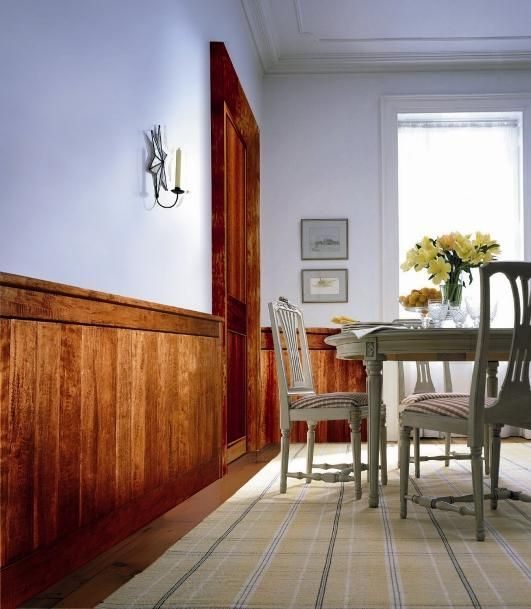 Wainscoting Ideas Dining Room: Classic Rustic Distressed Maple Wainscoting 4 Foot