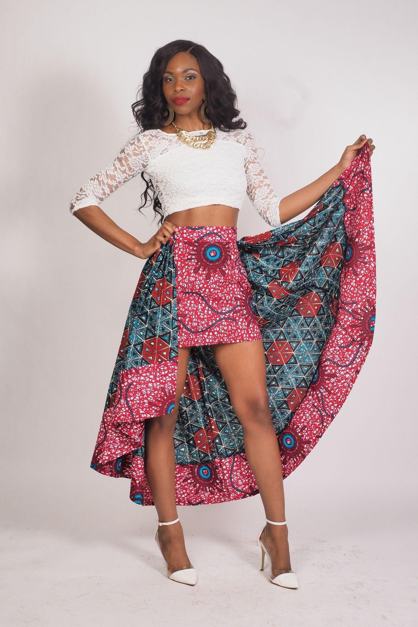 0b65f1e72b Carmen High Low Skirt   AFRICAN PRINTS   Fashion, African fashion ...