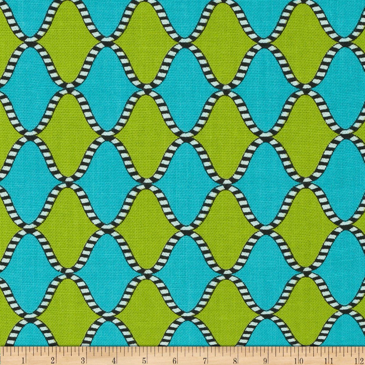 Origins Harlequin Turquoise/Lime Fabric