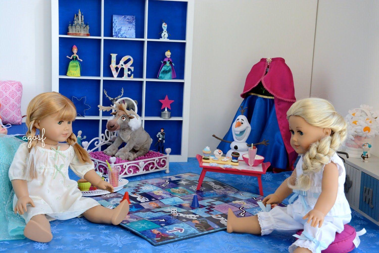 american girl doll disney frozen anna's bedroom featuring