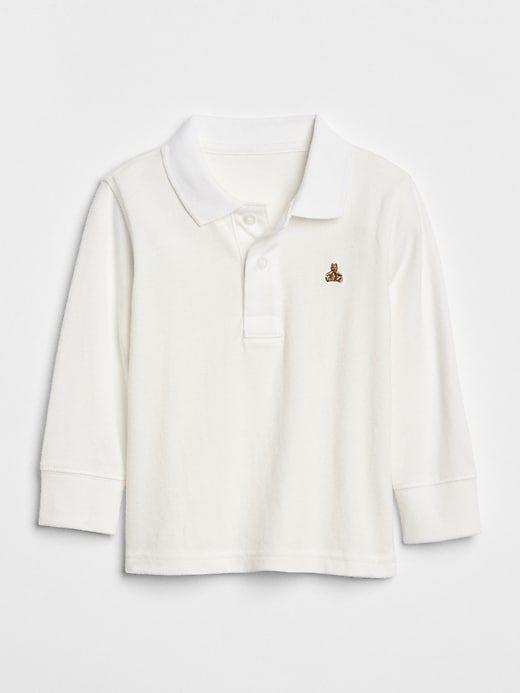 1d07a87b2936 Gap Baby Brannan Bear Polo Shirt New Off White