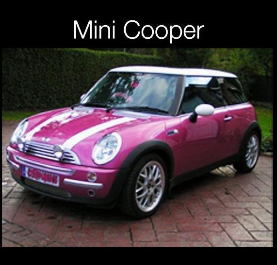 Pembe Mini Cooper Ve Vw Beetle Pembe Araba Renkler