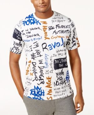2856c1d99571 Sean John Men's Big & Tall Graphic-Print T-Shirt - Ivory/Cream 4XLT ...