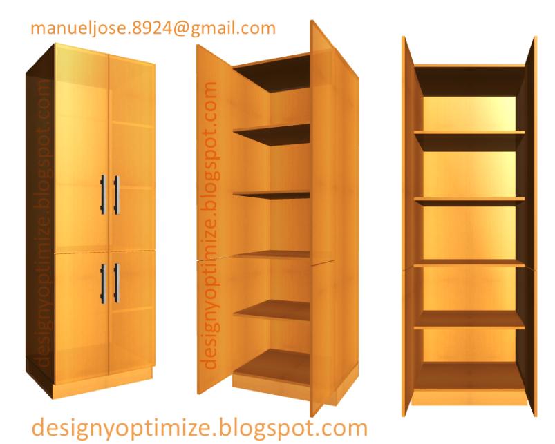 Dise o de muebles madera crear estante alacena despensa for Disenos de muebles para cocina en madera