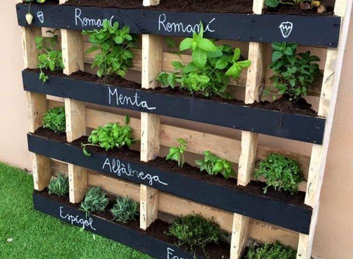 11 Jardines con palets