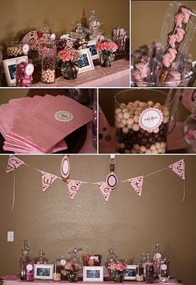 Super Pink Brown Theme Sweets Corner Party Themes Ideas Download Free Architecture Designs Rallybritishbridgeorg