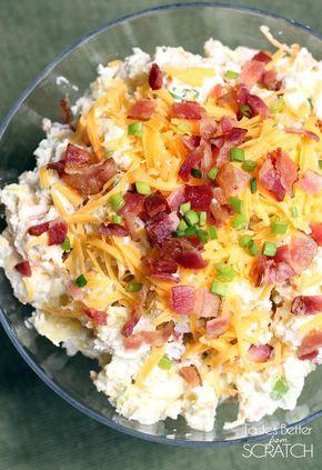 Baked Potato Salad #potatosalad