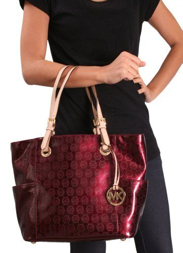 Michael Kors Jet Set Women S East West Large Purse Burgundy