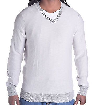 Kenneth Cole Men's Light Weight Left In Stitches V Neck Sweater