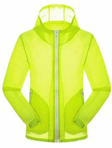 c5f8aefd1475a Cruiize Women s Lightweight Outdoor Quick Dry Jacket Hooded Coat  Fluorescent Green XS
