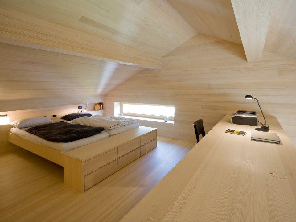 Modern wooden bedroom dietrich untertrifaller architects for Innendekoration chalet