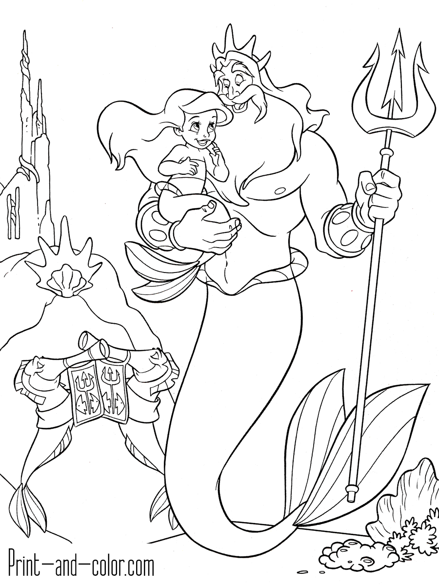 The Little Mermaid Coloring Pages Print And Color Com Mermaid Coloring Pages Ariel Coloring Pages Princess Coloring Pages