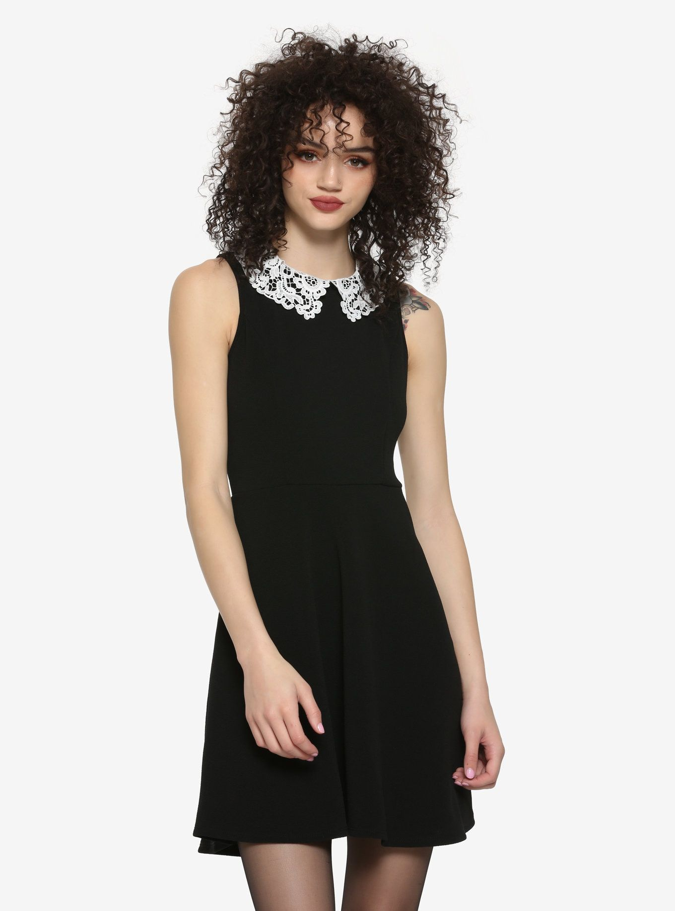 Black Lace Collar Dress My Style In 2019 Collar Dress