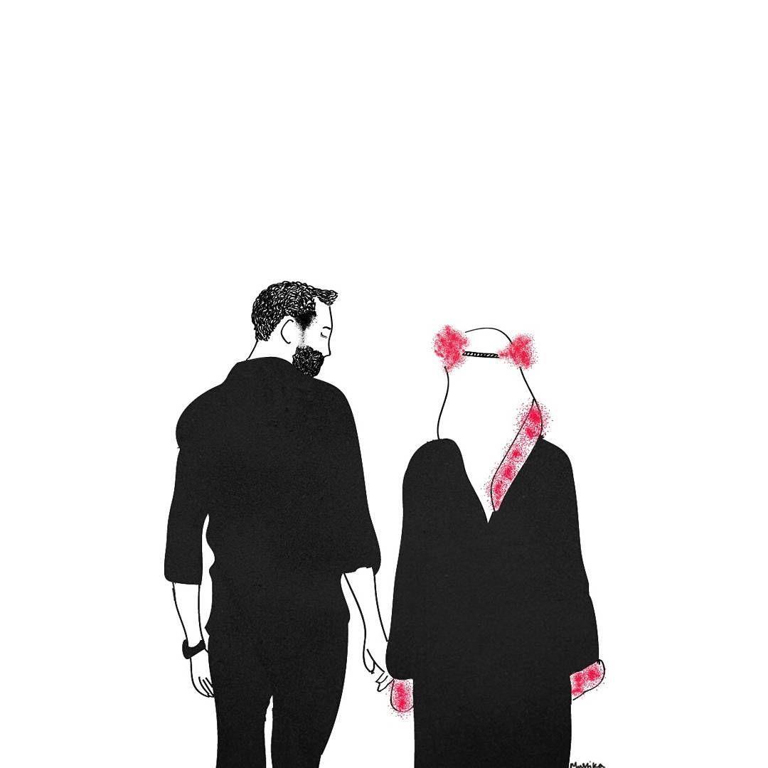 Gambar kartun muslimah couple kumpulan gambar bagus