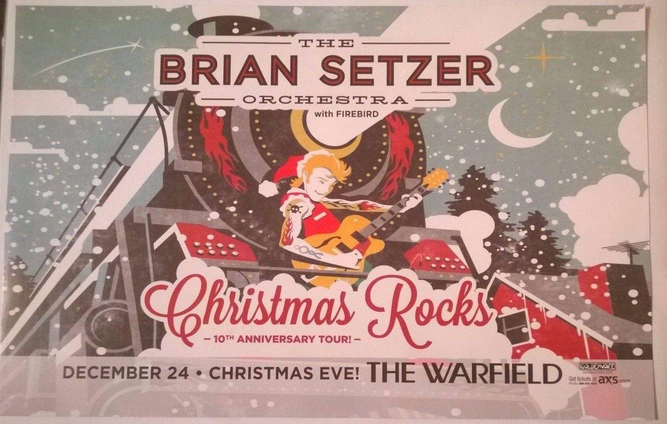 The brian setzer orchestra xmas rocks 10th anniversary tour sf