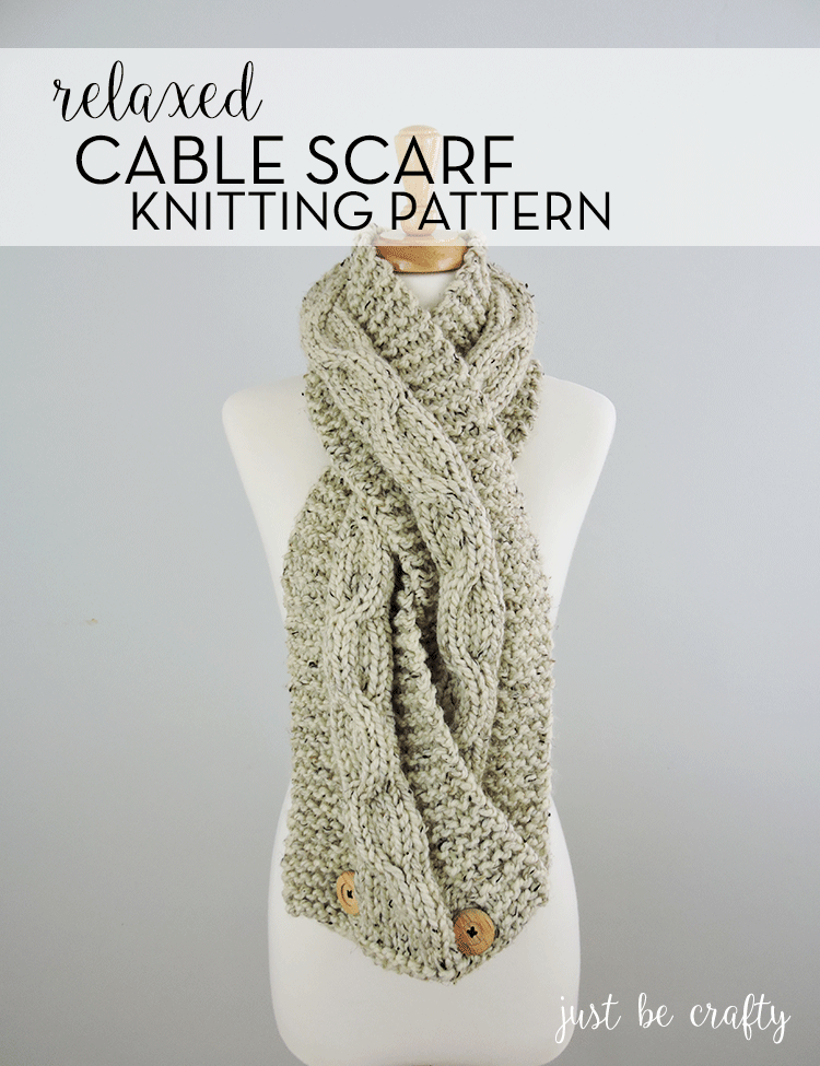 Chunky Relaxed Cable Scarf Pattern by | Pinterest | Tejido