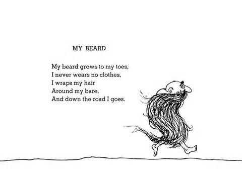 shel silverstein poem - My Beard {one of my favorite childhood ...