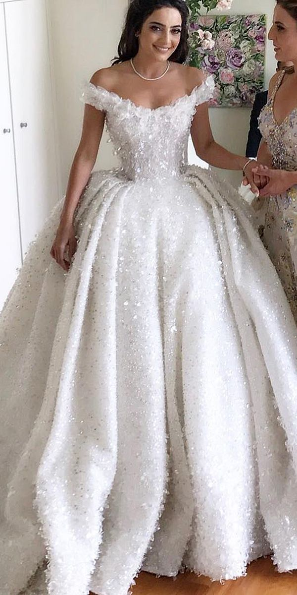 24 Lace Ball Gown Wedding Dresses You Love #attireforwedding