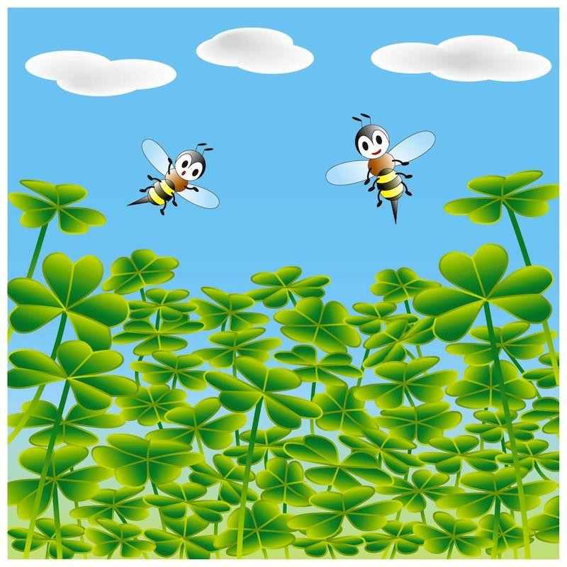 """Find four-leaf clovers"" Optical illusion,Hidden picture, http://asobidea.co.jp/en/service/illusion/"