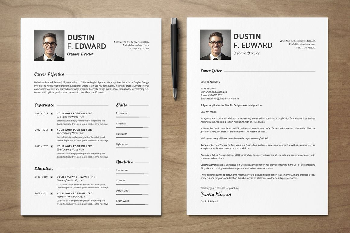 Premium Resume Cv Template Set By Snipescientist On Creative
