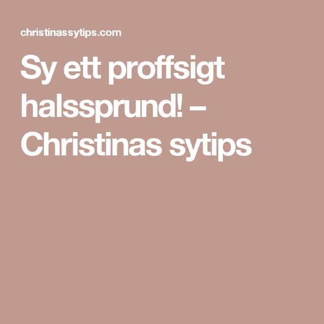 Sy ett proffsigt halssprund! – Christinas sytips